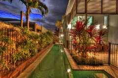 Private 13m Lap Pool (heated in winter) -  Palm Cove Holiday House