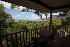 Private Balcony - Coral Sea Bungalow at Thala Beach Lodge Port Douglas