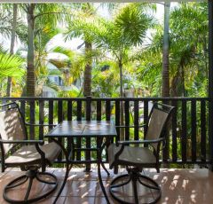 Private Balcony at Tropic Sands holiday apartments Port Douglas
