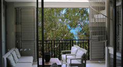 Private Balcony with Stair Case to Penthouse Terrace - Sea Temple Apartments Palm Cove