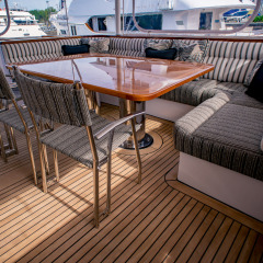 Private Charter Boat - Aft Dining