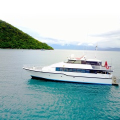 Private Charter Boats Cairns - At anchor Great Barrier Reef
