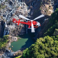 Private charter helicopter flight from Cairns to the outback