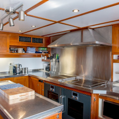 Private Luxury Charter Boat Australia - Galley Kitchen