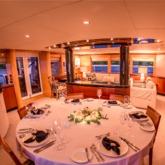 Private Luxury Charter Great Barrier Reef | Indoor Dining Area