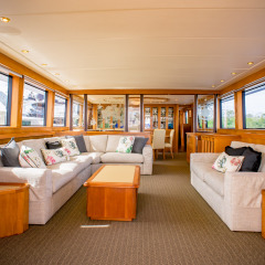 Private Overnight Luxury Charter Yacht- Saloon - Sailing Great Barrier Reef Australia