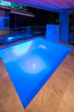 Private plunge pool with tranquil water feature - Port Douglas luxury accommodation