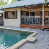 Private Swimming Pool with Timber Deck & BBQ for the perfect Palm Cove Family Holiday