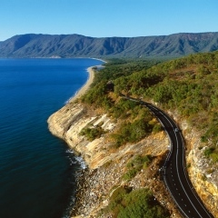 Aerial view of road to Port Douglas Australia's premier Holiday Destination