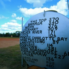 Quirky signs in Cape York Northern Australia