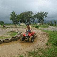 Race around our ATV quad bike track on our Cairns cane farm