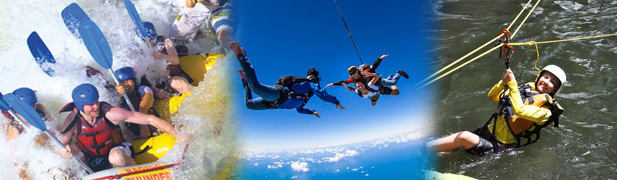 Cairns White Water Rafting, Canyoning & Cairns Skydive Combo Package Tour in Cairns