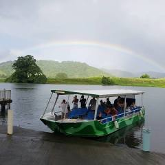 Rainbow on Morning Daintree River Cruise | Private Charter Group Tour