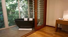 Rainforest Banyan complete with Deep Soaker bath on the Private Balcony to enjoy the sounds of the Rainforest - Daintree Eco Lodge