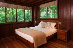 Rainforest Treehouse Bedroom  - Cairns' Atherton Tablelands Accommodation
