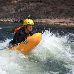 Rapid Boarding Go-Pro on Face First River Rafting