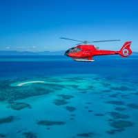 Great Barrier Reef Helicopter Flight Cairns View of Cay