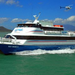 Reef Magic Cruises boat and Helicopter Cairns