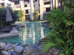 Relax by the Lagoon Pool at Sea Temple Private Apartments Palm Cove
