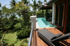 Relax by the pool outside Master Bedroom with fantastic views of the Coral Sea