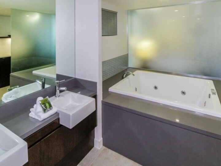 Relax in the oversized Spa Bath - Hotel Spa Room at Sea Temple Port Douglas Private Apartments
