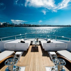 Superyachts Great Barrier Reef | Relax in the top deck of your private Superyacht exploring the Great Barrier Reef