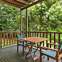 Relax on the Balcony looking out to the Rainforest