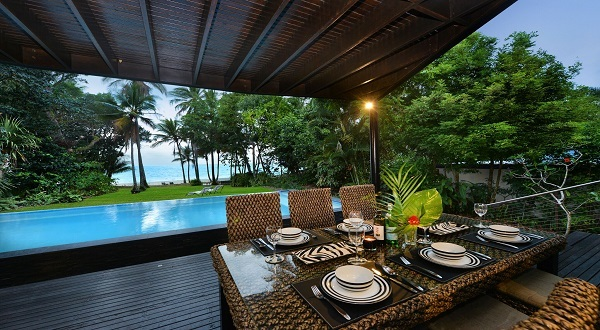Relax on the deck and enjoy the ocean view