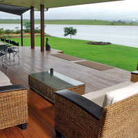 Relax on the Deck and enjoy the views of Tinaroo Dam - The Edge Holiday House