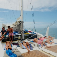 Relax on your Great Barrier Reef Private Charter Yacht