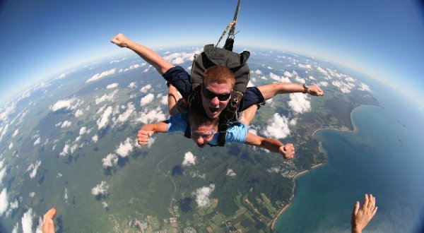 Remember to check out the view - Skydive Cairns