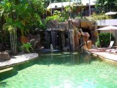 Resort Pool and Waterfall