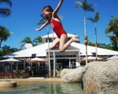 Resort Swimming Pool at Rendezvous Reef Resort Port Douglas