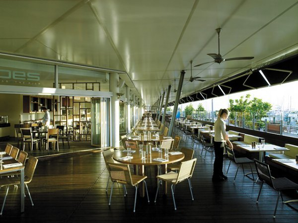 Restaurants & Bar Outdoor Deck with marina views  - ShangriLa Hotel Cairns