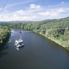 Ride the Skyrail Gondola across the mighty Barron River in Cairns