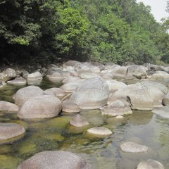 River Boulders in Mossman Gorge Daintree Rainforest