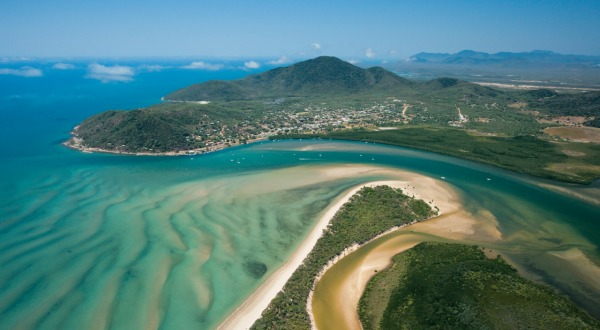 River inlet of Cooktown Private Charter Low Level Flight