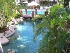 Rock Pool (Heated during Winter) at Private Apartment at Alamanda Palm Cove