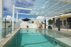 Elevated Pool Area - Piermonde Holiday Apartments Cairns