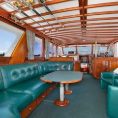 Saloon of Cairns private charter boat