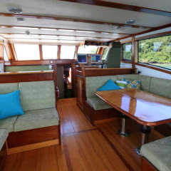 Saloon of luxury private charter boat Port Douglas