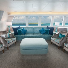Saloon relaxation area on Superyacht - Great Barrier Reef