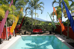 Saltwater Swimming Pool with Rainforest views in this luxury adult only resort Port Douglas Queensland Australia