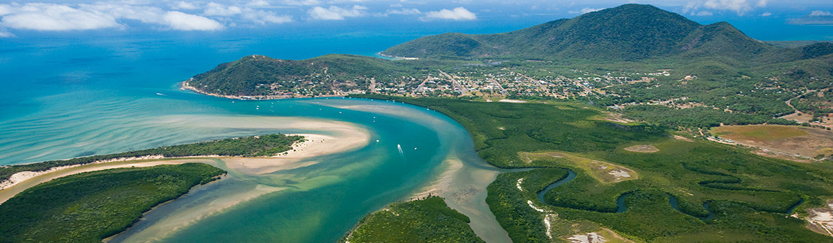 Aerial View Of Cooktown & Daintree River