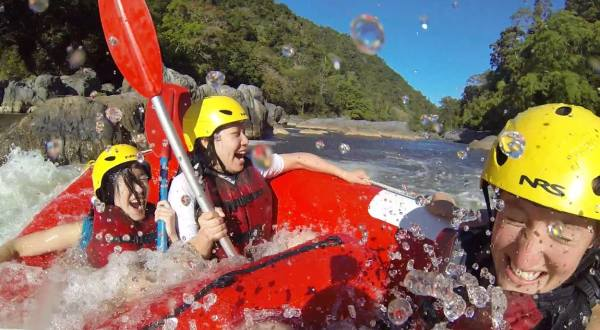 Scream asmuch as you like on your Cairns white water rafting tour