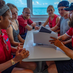 Scuba Dive Briefing on Board Dreamtime Dive and Snorkel Great Barrier Reef Cairns