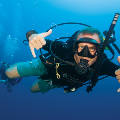 Scuba Diver Enjoying our Great Barrier Reef tour from Cairns