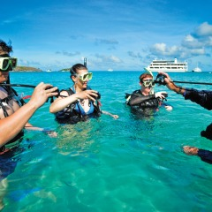Try introductory Scuba Diving whilst cruising the Great Barrier Reef in Australia
