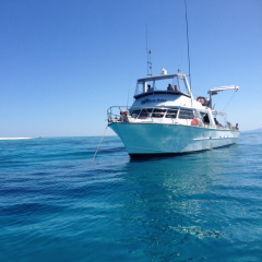 Scuba Diving Boat on the Reef Cairns