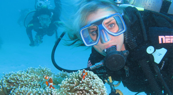 Scuba diving on the Cairns Great Barrier Reef day tours